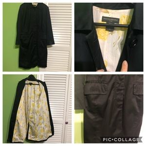 NWOT Banana Republic Black Trench Coat Jacket M